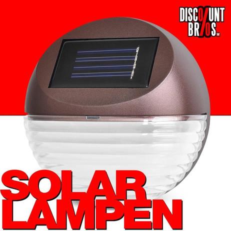 LED Solarleuchten mit Wandhalterung 4er-Set