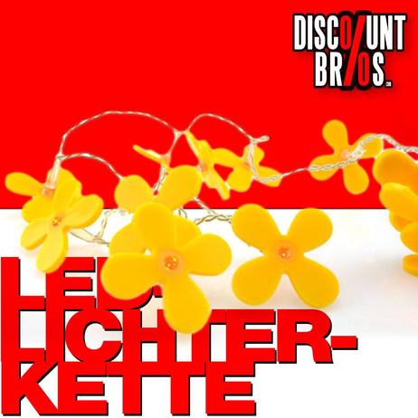 LED-Lichterkette DEKOLICHT Partygirlande gelbe Blumen – Bild 1