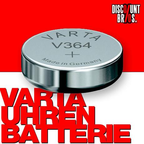 VARTA V364 Silberoxid Uhrenbatterie Miniblister – Bild 1