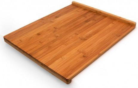Bambus SCHNEIDEBRETT Tranchierbrett mit Doppelkante 38×45cm – Bild 2