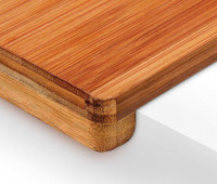 Bambus SCHNEIDEBRETT Tranchierbrett mit Doppelkante 38×45cm