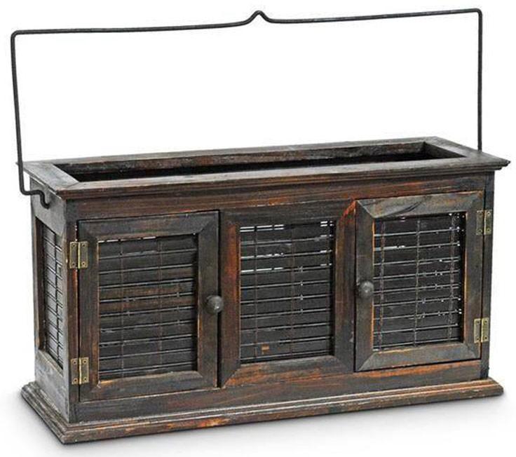 Edles XL Windlicht LATERNE Holz 46×16×24cm