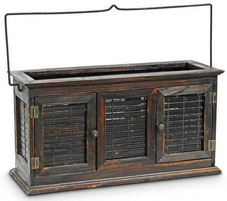 Edles XL Windlicht LATERNE Holz 46×16×24cm – Bild 3
