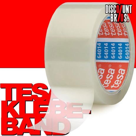 6 Stk. Packband KLEBEBAND für Kartonschachteln etc. tesapack® 64014 PP 66m 50mm transparent  – Bild 1