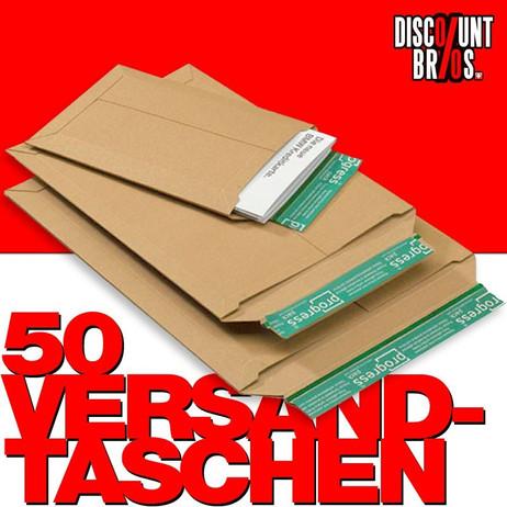 50 Stk. VERSANDTASCHEN aus Karton Vollpappe Braun A5 B5 C5 DIN Lang 25×17,5cm – Bild 1