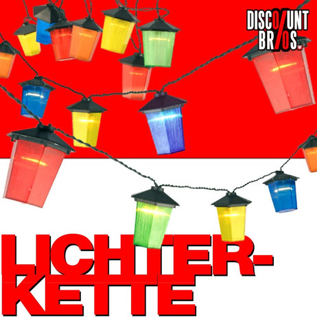 LED Party LICHTERKETTE mit 20 Laternen