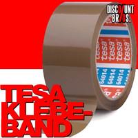36 Stk. Packband KLEBEBAND für Kartonschachteln etc. tesapack® 64014 PP 66m 50mm braun