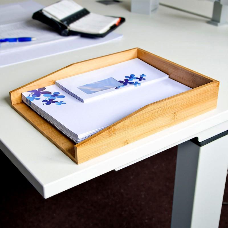 Dokumentenablage Papierablage BRIEFABLAGE Bambus 33×25×6cm