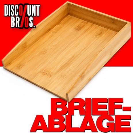 Dokumentenablage Papierablage BRIEFABLAGE Bambus 33×25×6cm – Bild 1