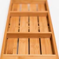 Badewannentablett BADEWANNENABLAGE aus Bambus Holz ausziehbar