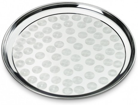 Serviertablett TABLETT Servierplatte aus Edelstahl Ø40cm