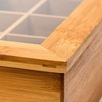 TEEBOX aus Bambus mit 6 Teekammern 22×16×9cm