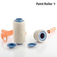 PAINT ROLLER PLUS + Farbroller mit Tank, Eckenroller, Nachfüllkrug und Verlängerung