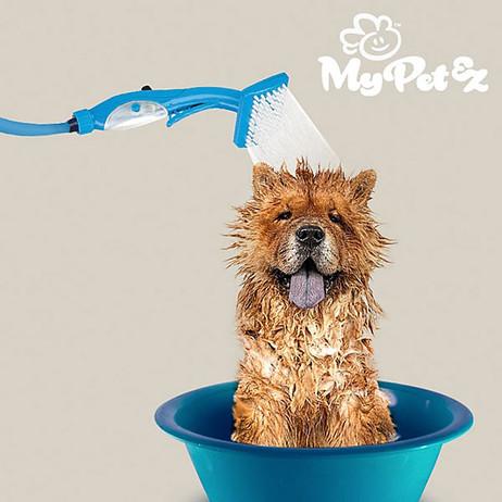 My Pet Brush Schlauch mit Bürste – Dusche für Haustiere wie Hunde und Katzen – Bild 3