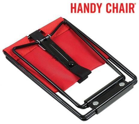 Handy Chair® Klappstuhl KLAPPHOCKER Campingstuhl Campinghocker rot – Bild 6