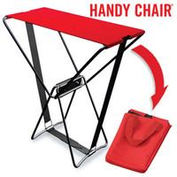 Handy Chair® Klappstuhl KLAPPHOCKER Campingstuhl Campinghocker rot