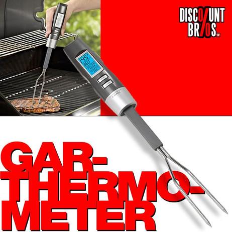 Digitales THERMOMETER Fleischgabel mit Lebensmittel- Grill- Fleisch- Bratenthermometer – Bild 1