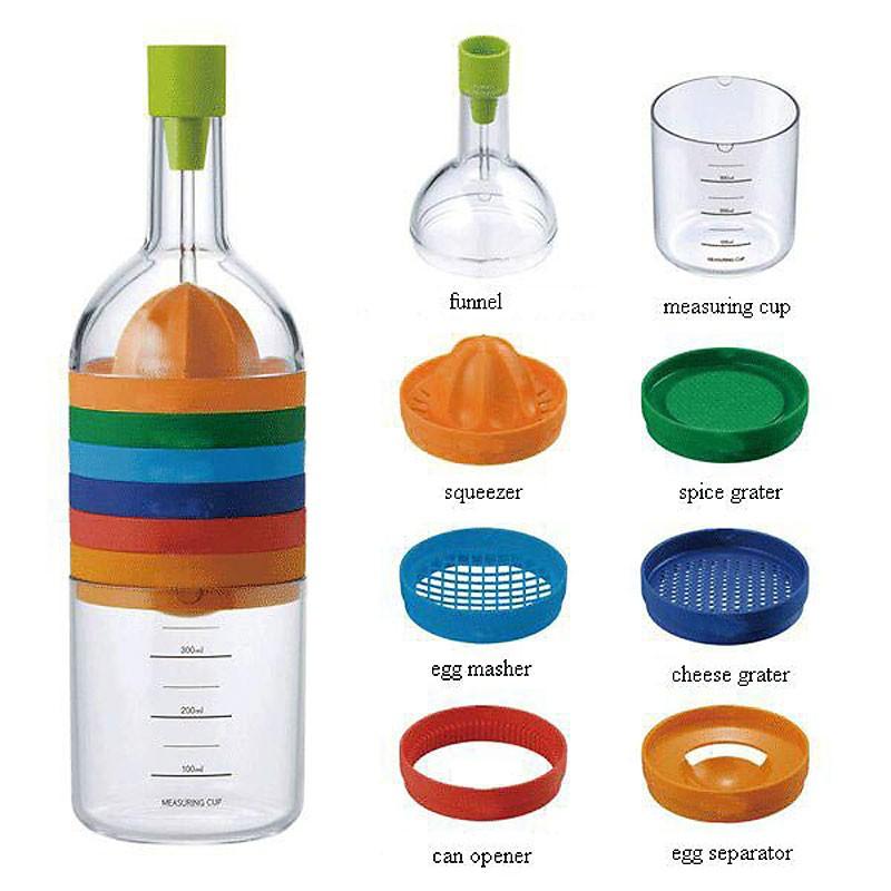 8in1 COOK BOTTLE™ 8 Küchengeräte in einer Flaschengrösse
