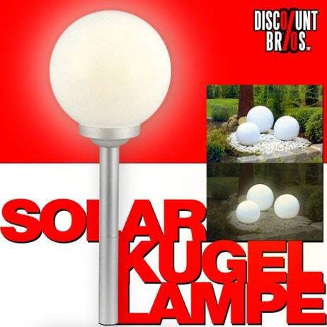 LED SOLAR LEUCHTKUGEL Kugelleuchte Kugellampe Ø15cm WARMWEISS – Bild 1