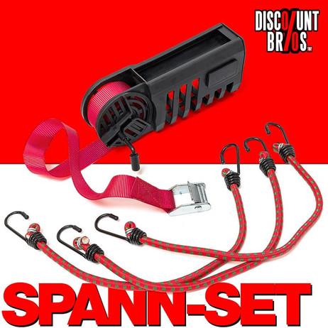 SPANN-SET Spanngurt mit 3 Spanngummis in Box – Bild 1