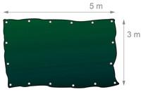 90g/m² Gewebeplane ABDECKPLANE Blache Plane mit Ösen alle 100cm 5×3m