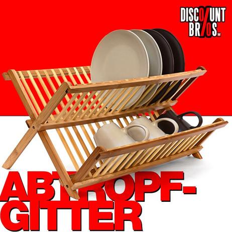 GESCHIRR-ABTROPFGITTER Abtropfgestell aus Bambus 47cm – Bild 1