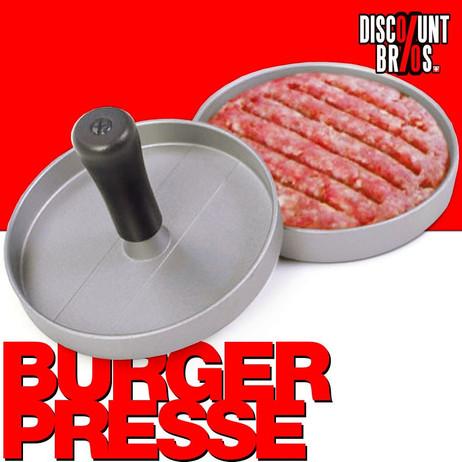 Burger Maker BURGERPRESSE Hamburgerpresse aus Aluguss mit Antihaftbeschichtung Ø12cm