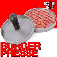 Burger Maker BURGERPRESSE Hamburgerpresse aus Aluguss mit Antihaftbeschichtung Ø12cm 001