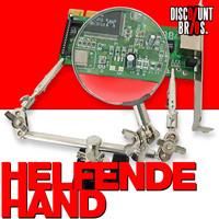 Löt- + Montagehilfe HELFENDE HAND Kugelgelenk-Greifzangen mit Lupe
