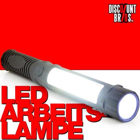 Stableuchte LED ARBEITSLAMPE Taschenlampe mit Clip und Magnet