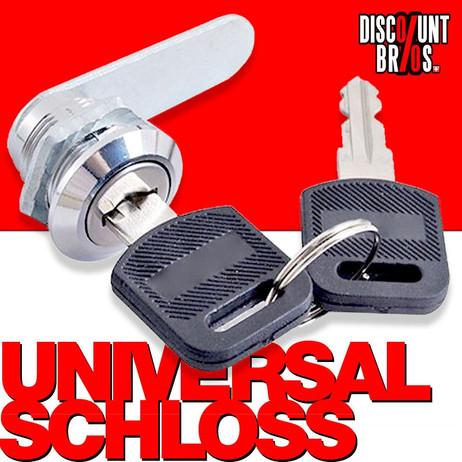 Schliesszylinder SCHLOSS mit 2 Schlüsseln für Briefkasten, Schubladen oder Spint – Bild 1