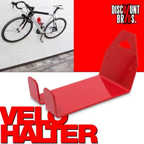 VELOSTÄNDER Fahrrad WANDHALTERUNG fahrradständer Veloaufhängung für Pedale ROT – Bild 1