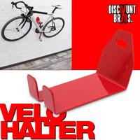 VELOSTÄNDER Fahrrad WANDHALTERUNG fahrradständer Veloaufhängung für Pedale ROT