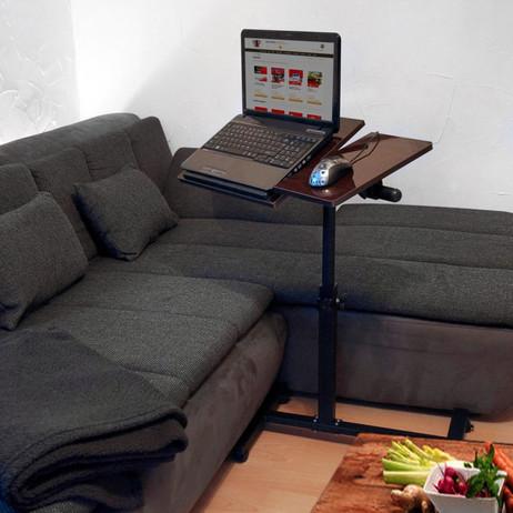Mobiler Beistelltisch LAPTOPTISCH Notebooktisch Ebenholz – Bild 3