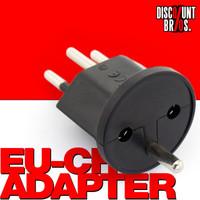 10 × Permanent Fix-Adapter Stecker + 1 Montagehilfe SCHUKO (Typ F CEE 7) zu Schweiz (T12) 3-polig SCHWARZ