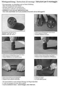 10 × Permanent Fix-Adapter Stecker OHNE Montagehilfe SCHUKO (Typ F CEE 7) zu Schweiz (T12) 3-polig SCHWARZ