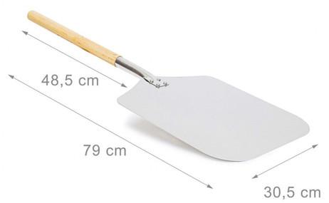 PIZZASCHAUFEL Brot- und Pizzaschieber eckig 30,5×79cm  – Bild 5