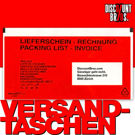250 Stk. docuFIX® Rechnung – Lieferscheintaschen DOKUMENTENTASCHEN Fenster rechts – Bild 1