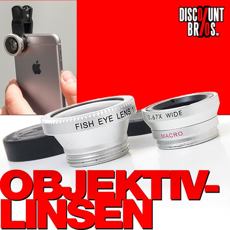 OBJEKTIV-LINSEN für iPhone Handy Smartphone iPod iPad Tablet etc. – Bild 1