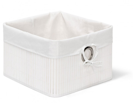 Box Schrankkorb REGALKORB Aufbewahrungskorb aus Bambus SCHWARZ Weiss Natur oder Braun – Bild 2