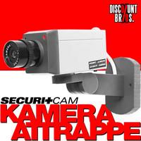 Securitcam™ KAMERA ATTRAPPE mit LED und Bewegungsmelder OHNE SCHWENK