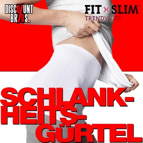 FIT×SLIM Trendy Top SCHLANKHEITSGÜRTEL Bauchweggürtel 2er-Pack S-M – Bild 1