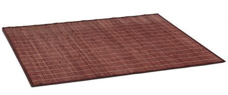 Bambus BADVORLEGER Badteppich BRAUN 100×80cm – Bild 2