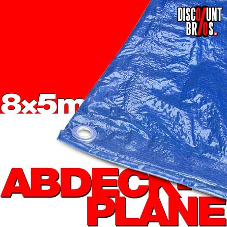 xxg/m² Gewebeplane ABDECKPLANE Blache Plane mit Ösen 8×5m BLAU – Bild 1