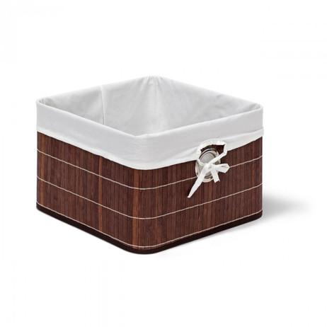 Box Schrankkorb REGALKORB Aufbewahrungskorb aus Bambus WEISS – Bild 6