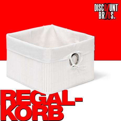 Box Schrankkorb REGALKORB Aufbewahrungskorb aus Bambus WEISS – Bild 1