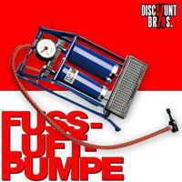 Pumpe DOPPEL LUFTPUMPE Fussluftpumpe Fusspumpe 2-Zylinder mit Adapter