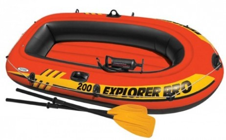 Intex SCHLAUCHBOOT EXPLORER PRO 200 Boat Set + Pumpe + Paddel – Bild 2