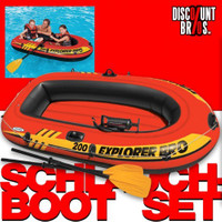 Intex SCHLAUCHBOOT EXPLORER PRO 200 Boat Set + Pumpe + Paddel