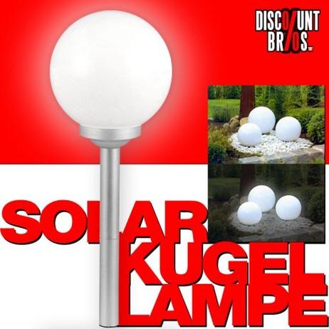 LED SOLAR LEUCHTKUGEL Kugelleuchte Kugellampe Ø20cm WARMWEISS – Bild 1